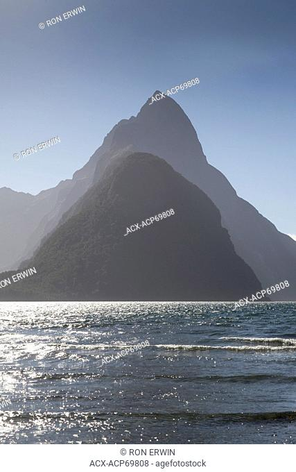 Mitre Peak on Milford Sound in Fiordland National Park, New Zealand