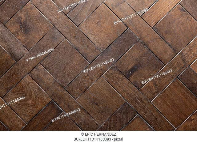 Detail shot of a brown wooden floor at Irvine; California; USA