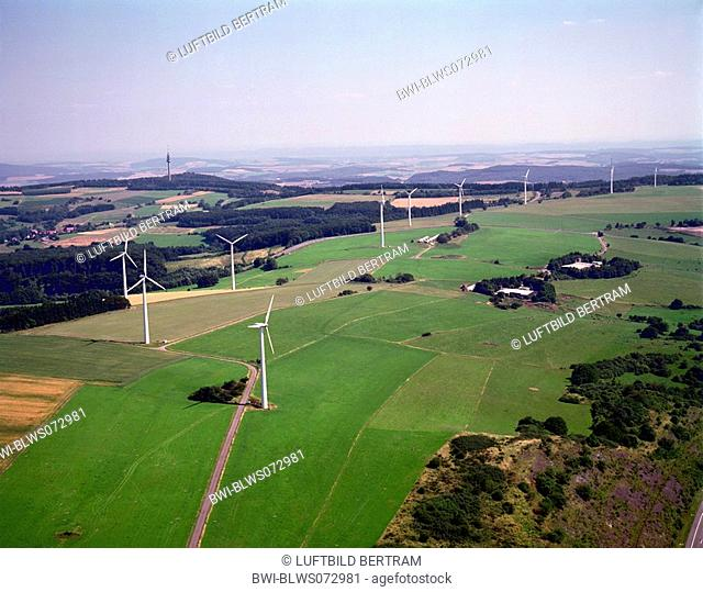 wind power stations between Nohfelden and Baumholder, Germany, Rhineland-Palatinate