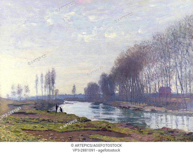 Claude Monet. Le petit bras de la Seine à Argenteuil . 1872. National Gallery London