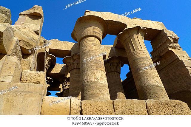 Hypostyle Hall. Kom Ombo Temple. Upper Egypt