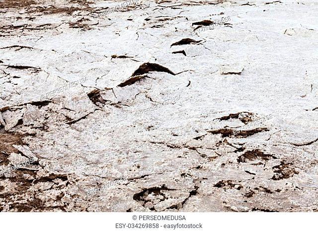 Salt desert close to Amboy, USA. Concept for desertification
