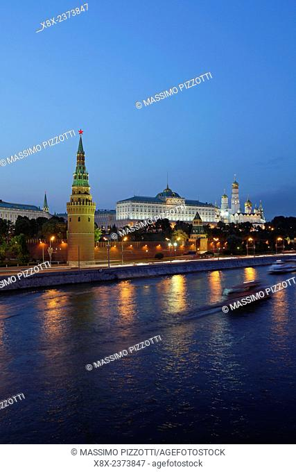 View of the Kremlin from the Moscow River, Moscow, Russia