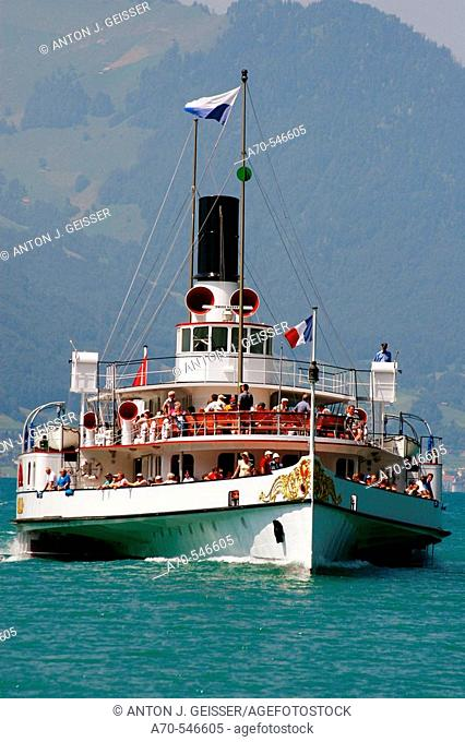'Gallia' paddle steamer. Lake Lucerne. Switzerland