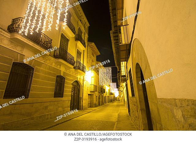 Christmas time in Rubielos de Mora in Teruel Aragon Spain