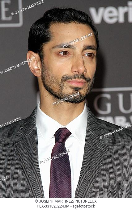 """Riz Ahmed at the world premiere of """"""""Rogue One: A Star Wars Story"""""""" held at the Pantages Theatre in Hollywood, CA, December 10, 2016"""