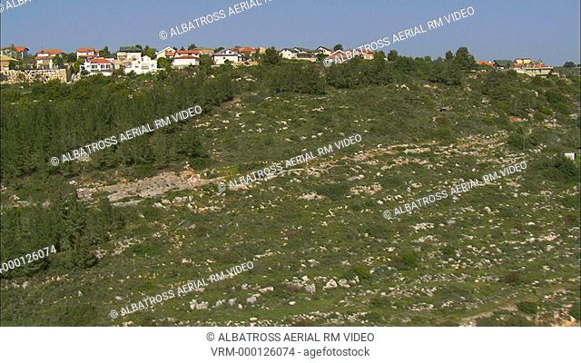 Aerial footage of Gilon Village in the upper Galilee