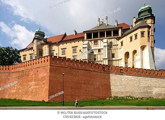 Wawel Hill and Castle,Royal Castle,Cracow, Krakow,Poland