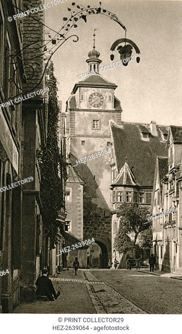 'Rothenburg o. d. T. - Weisser Turm', 1931. Artist: Kurt Hielscher