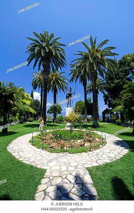 Griechenland Korfu Achillion Museum Schlosspark . Skulptur Achilles