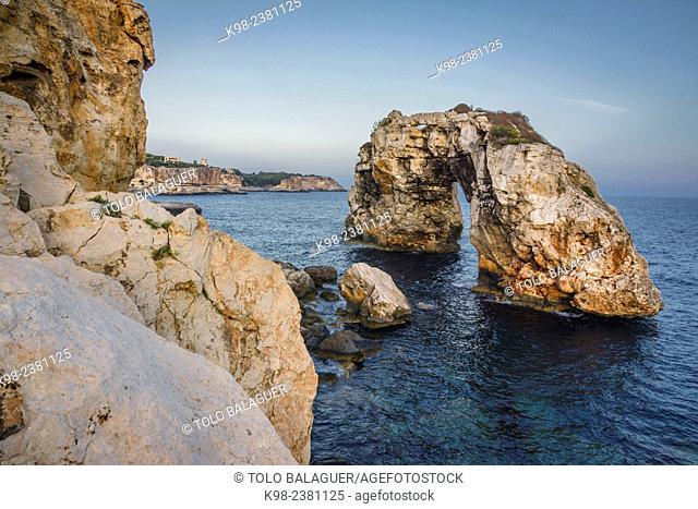arco natural de roca Es Pontas,Santanyí,islas baleares, Spain