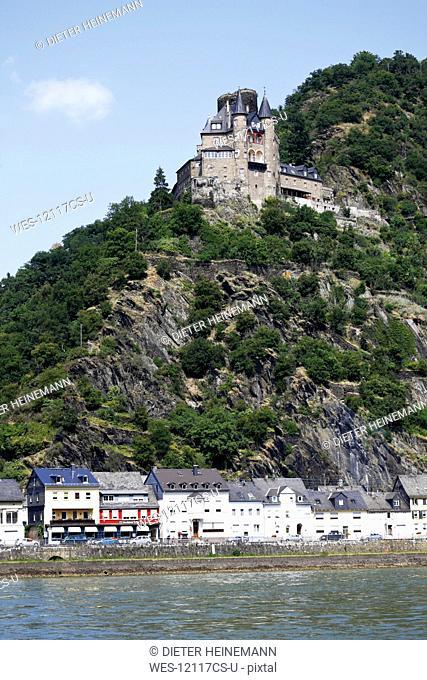 Germany, North Rhine Westphalia, St. Goarshausen, Castle Katz