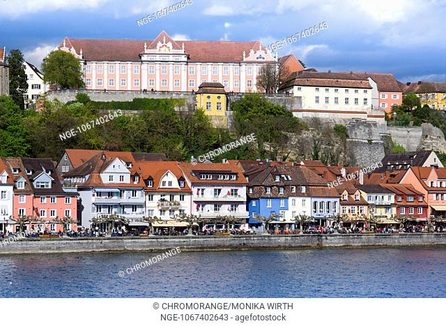 Neues Schloss, New Castle, Meersburg, Lake Constance, Baden-Wuerttemberg, Germany, Europe