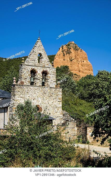 Church of the town of Las Médulas. Las Médulas Natural Monument. The Bierzo. Province of León. Castilla y León. Spain
