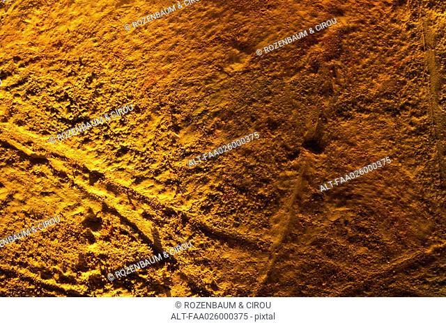 Orange surface, full frame
