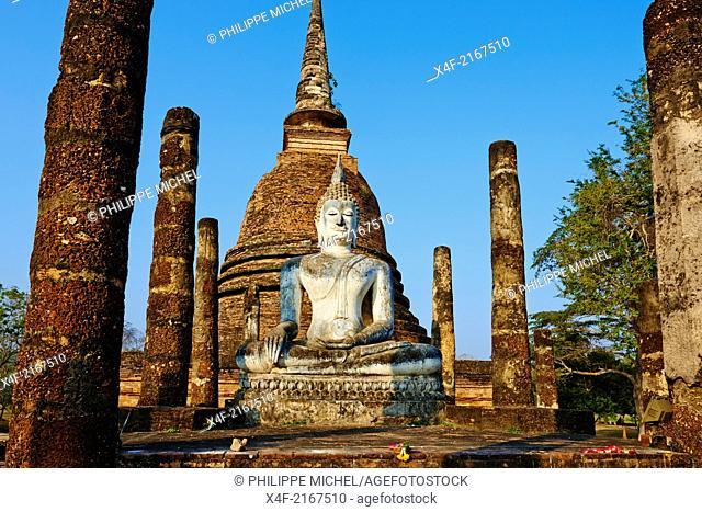 Thailand, Sukhothai, Sukhothai Historical Park, Wat Sa Sri