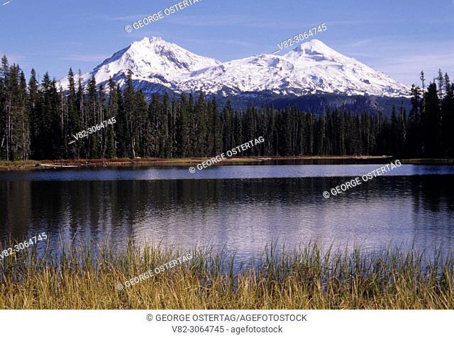 Three Sisters & Scott Lake, Willamette National Forest, Oregon