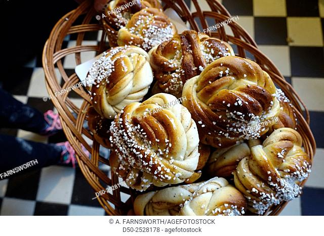 Bakery and cinnamon buns, Stockholm, Sweden