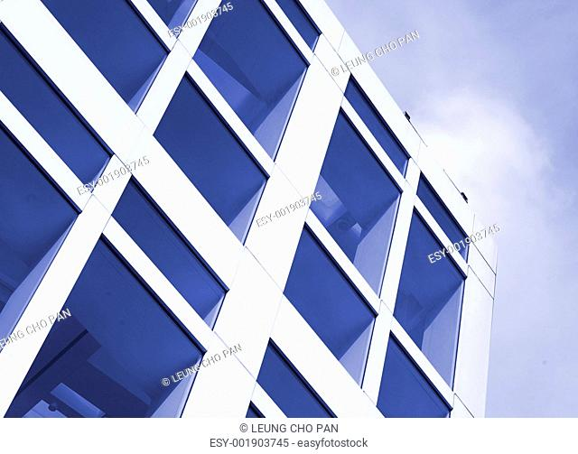glass wall of building