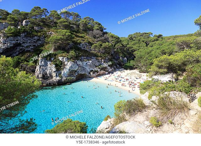 Spain, Balearic Islands, Cala Macarelleta Beach
