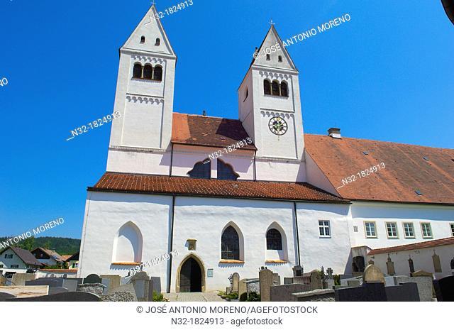 Steingaden, Upper Bavaria, St  John the Baptist Abbey church, Bavaria, Germany
