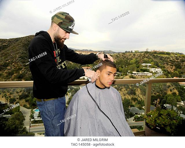 "Quincy Brown on set of Quincy Brown """"Stay Awhile"""" music video in Los Angeles, California"