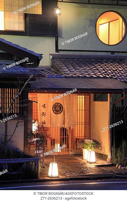 Japan; Kyoto, Higashiyama, street scene, restaurant,