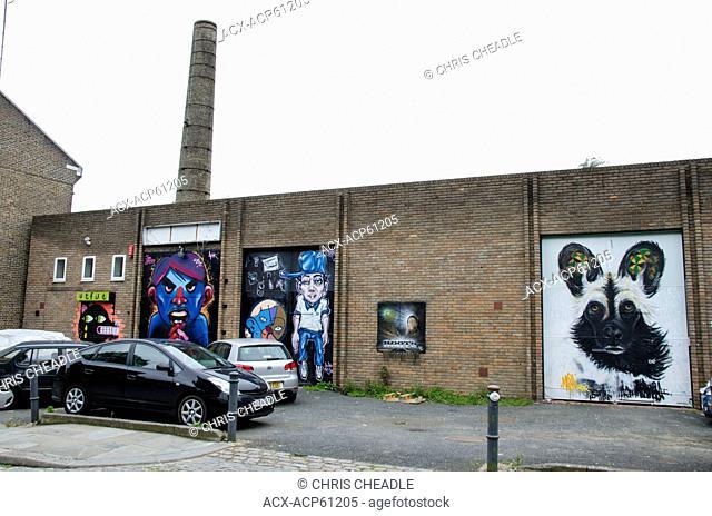 Street Art, near Brick Lane, Shoreditch, East London, England