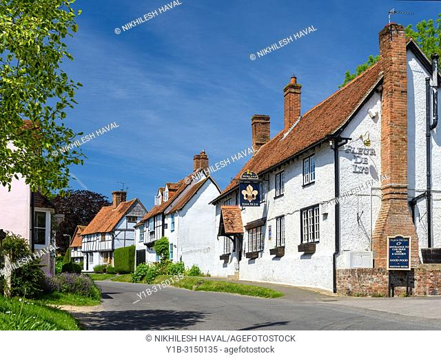 Pub and Cottages, East Hagbourne, Oxfordshire, UK