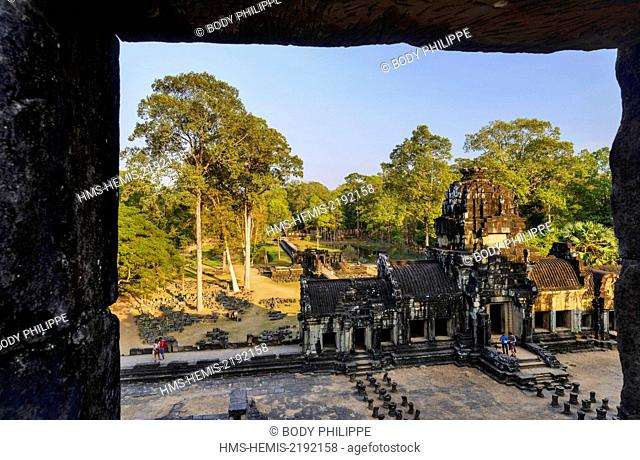 Cambodia, Angkor listed as World Heritage by UNESCO, temple of Baphuon, built by King Udayaditiavarman II near 1060