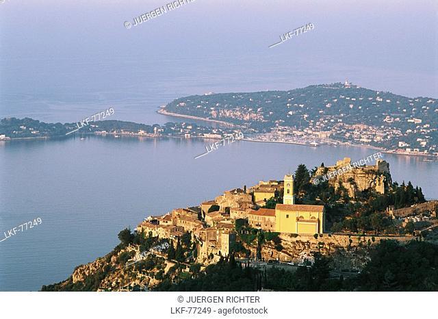 View towards Eze and Cap Ferrat, Cote D'Azur, Provence, France
