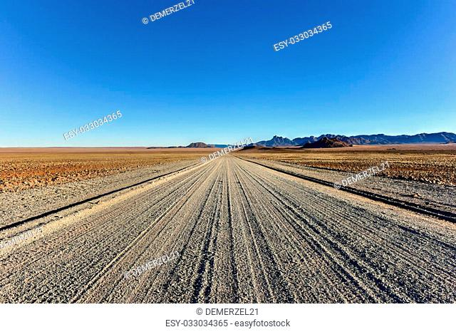 Dirt and gravel roads in the NamibRand Nature Reserve, Namibia