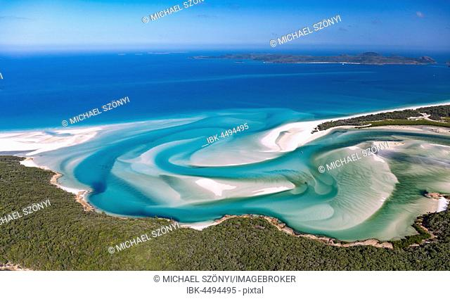 Hill Inlet, turquoise waters, Whitsunday Island, Queensland, Australia