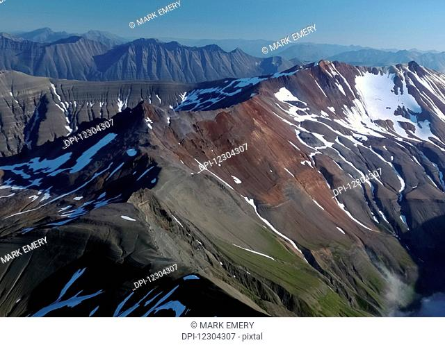 Aerial view of mountains near Port Alsworth, Lake Clark National Park, Southcentral Alaska