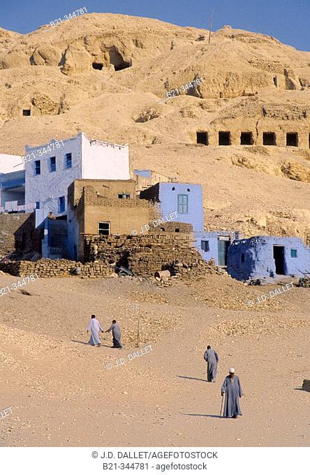 Gurna, Nile River valley. West Bank, Luxor. Egypt
