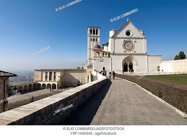 St  Francis Basilica, Assisi, Perugia, Umbria, Italy