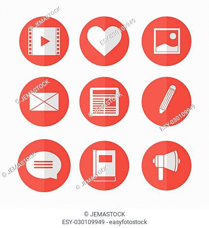Blog concept with technology icons design, vector illustration 10 eps graphic