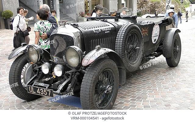 Vintage Bentley Oldtimer, St.Moritz, Switzerland, Schweiz