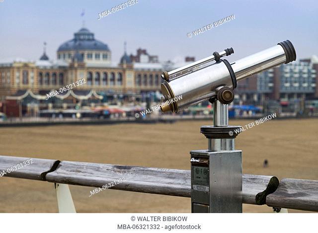 Netherlands, Scheveningen, Kurhaus, with telescope