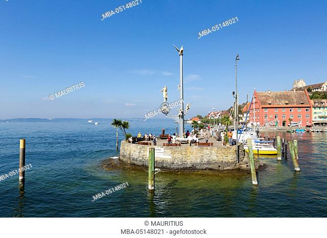 Harbour mole in Meersburg at Lake Constance