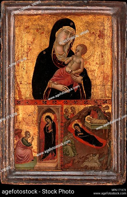 Madonna and Child with the Annunciation and the Nativity. Artist: Goodhart Ducciesque Master (Italian, Siena, active ca. 1315-30); Date: ca