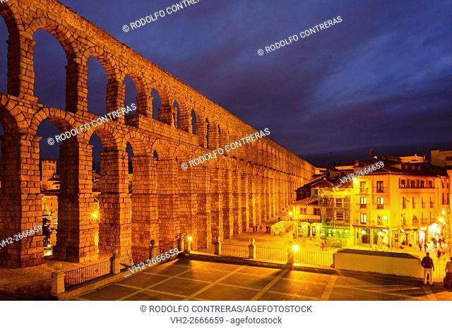 Roman aqueduct in Segovia