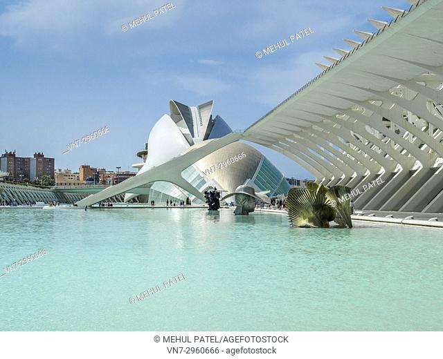 In the City of Arts and Science (Ciudad de las Artes y las Sciencias) complex , Valencia, Spain, Europe