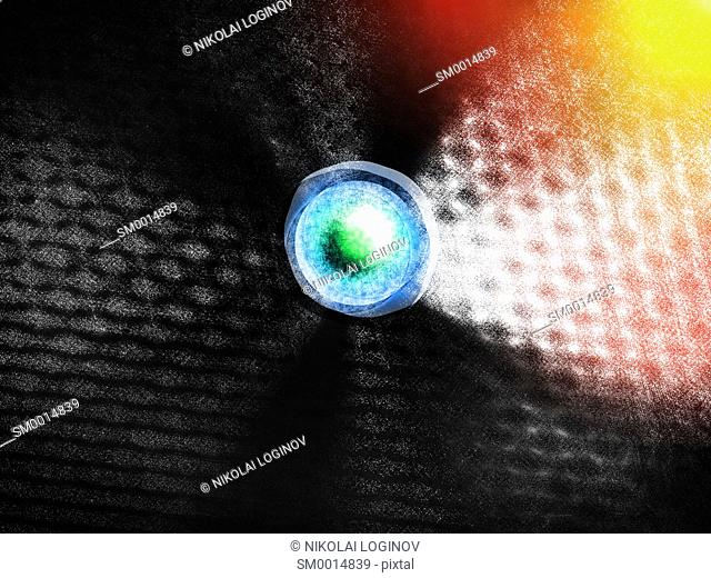 Abstract lens with light leak background hd
