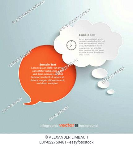 Speech Bubble Hole Silver Background