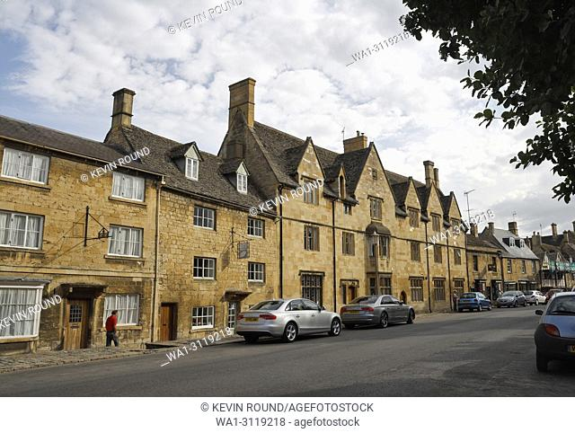 Chipping Campden High Street, Cotswolds England UK