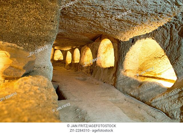 catacombes at Tripiti at Milos in Greece