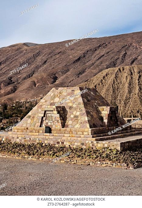 Argentina, Jujuy Province, Tilcara, View of the Pucara de Tilcara, pre-Inca fortification ruins, now museum