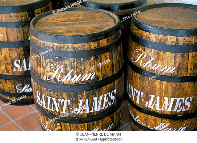 Barrels of rum, French Antilles, West Indies, Central America