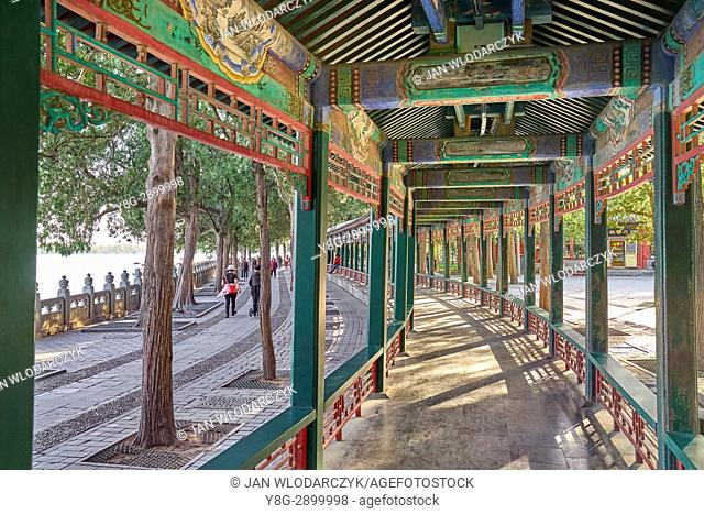 The Long Corridor at the Summer Palacee, Beijing, China